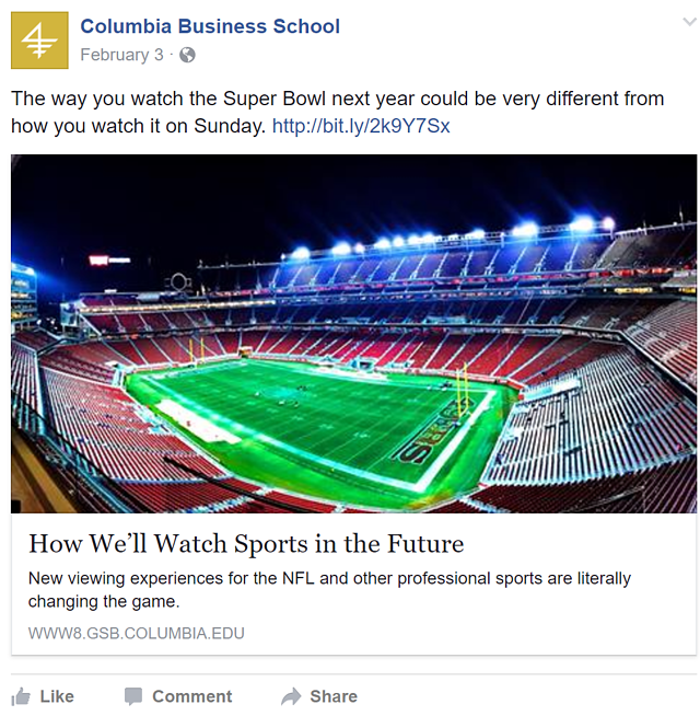 social media superbowl example