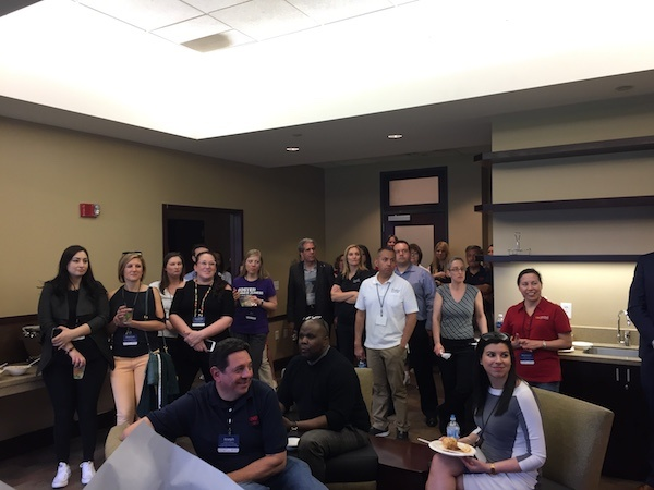 Attendees listen to Hatuey Mendoza, a former Diamondbacks pitcher and Thunderbird alumnus
