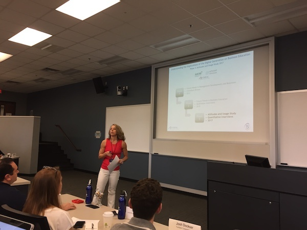 """Dr. Joyce Kurpiers presents on """"Implications of the Digital Generation on Business Education"""""""