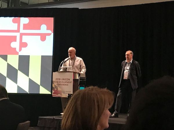 Bill Scheurer (UNICON Executive Director) and Peter Hirst (MIT Sloan, UNICON Board Chair)